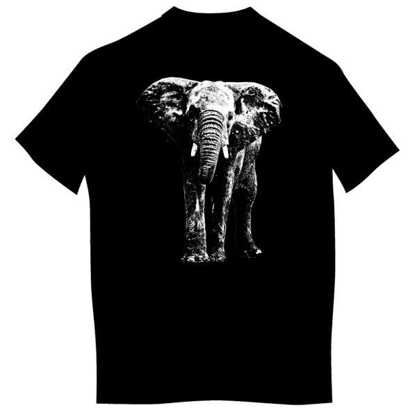 T-shirt z nadrukiem dla dorosłych - słoń